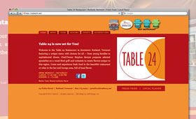 Websites | Table 24 Restaurant