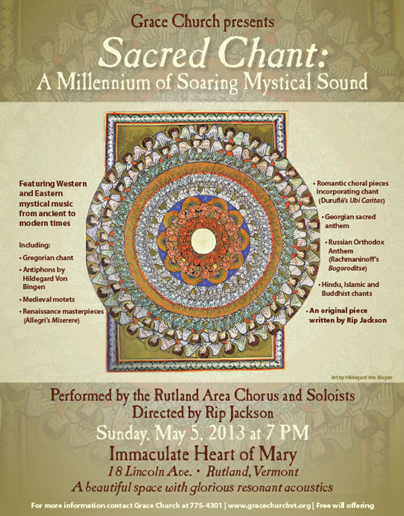 Sacred Chant Concert Poster