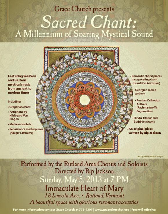 Sacred Chant Concert Poster