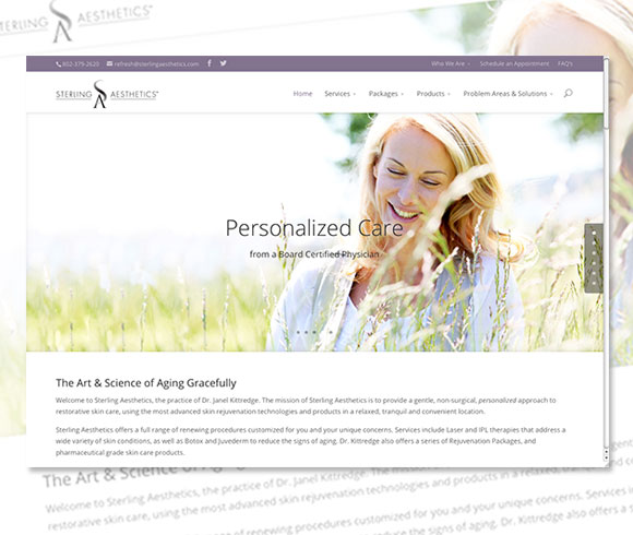 Sterling Aesthetics website