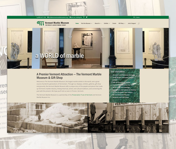 Vermont Marble Museum home page