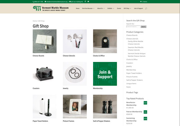 vermont marble museum online store