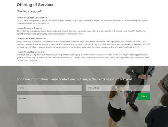 Ellis HR Services Page