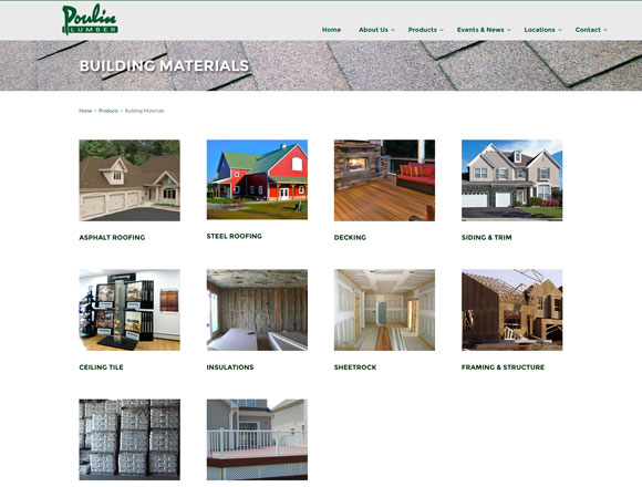Poulin Lumber Building Materials Page