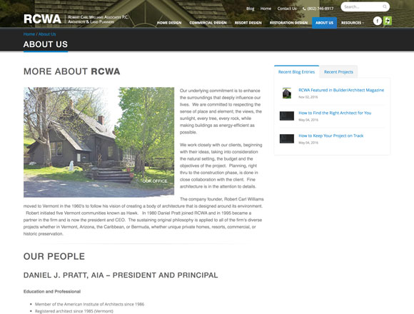 RCWA About Us Page