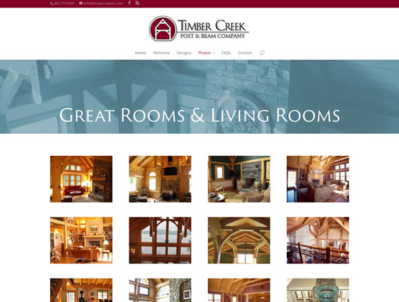 Timber Creek Great Rooms and Living Rooms Page