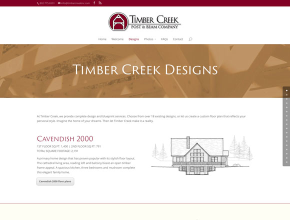 Timber Creek Designs Page